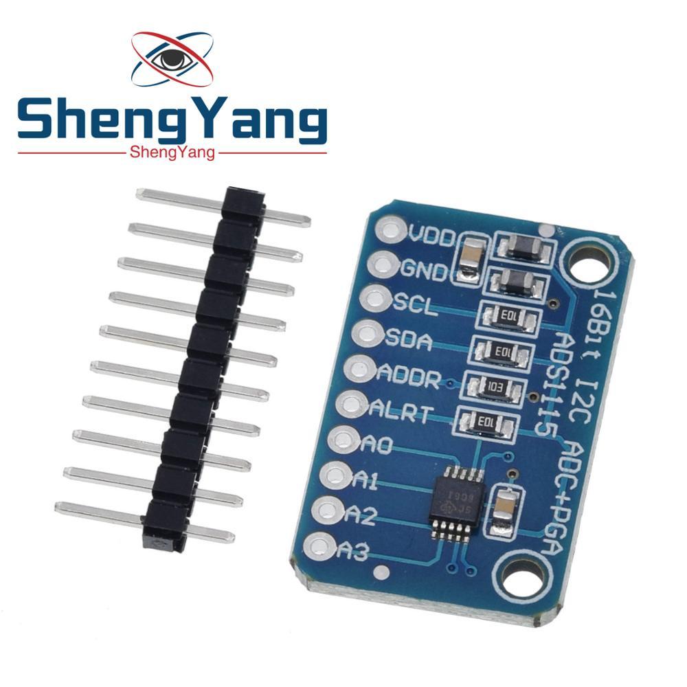 ShengYang-Módulo de 4 canales con amplificador de ganancia profesional para Arduino RPi, 16 bits, I2C, ADS1115, 1 Uds.