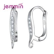 hot deal buy jemmin fashion women stud earrings s925 sterling silver earrings elegant design for women crystal earring jewelry fine quality