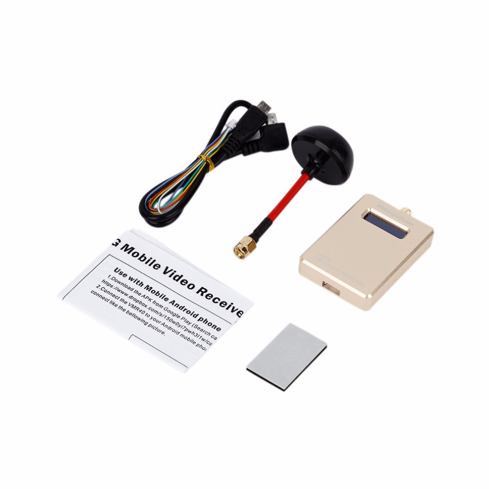Golden FPV 5.8G VMB40 40CH Wireless Mobile Video Receiver with OTG Connect fpv mini 5 8g 150ch mini fpv receiver uvc video downlink otg vr android phone tablet pc fpv mobile phone display receiver