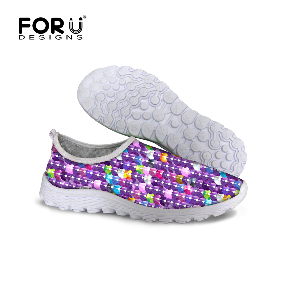 FORUDESIGNS Women Casual Platform Shoes,Summer Ladies Lightweight Flats Mesh Shoes,Woman Breathable Shoes Female 2017 Loafers huanqiu women mesh shoes casual lace up summer ladies flats white shoes breathable candy colors woman shoes 6e04