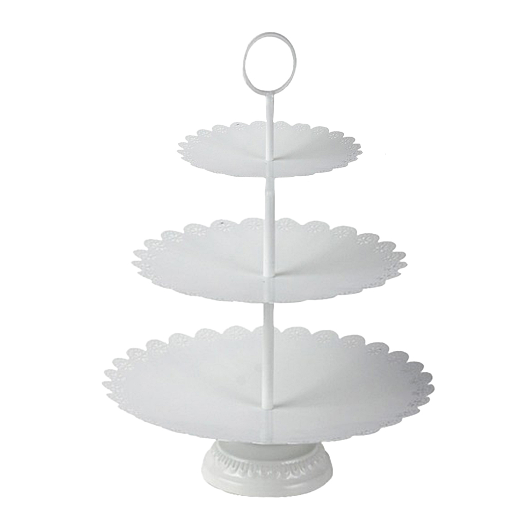 3 & 2 Tier Stacked Cake Stand Afternoon Tea Wedding Plates Fruit Cake Food Display Stand Party Tableware