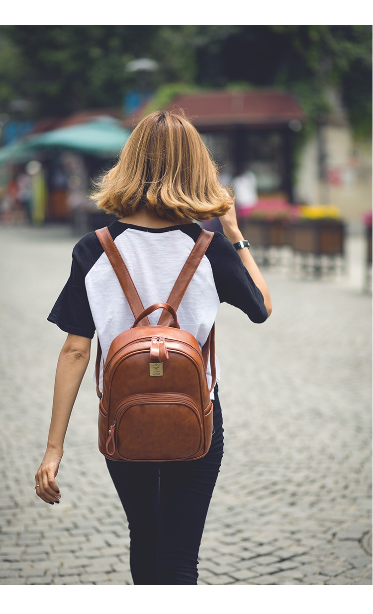2016 Fashion Vintage Black PU Leather Backpacks For Women Preppy Bookbag New Cheap Designer Backpack Brand Couro Mochilas Mujer (14)