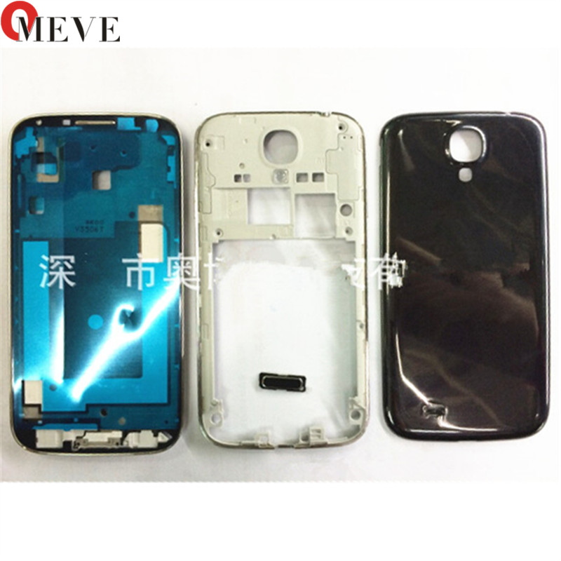 Full Housing For Samsung Galaxy S4 i9500 i9506 i9505 i337 m919 new Front Frame + Middle Frame + Battery Cover door Repair Parts image