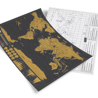 Sell Like Hot Cakes Black Mini Map Scratch Map Black Luxury Gift World Map Edition Of