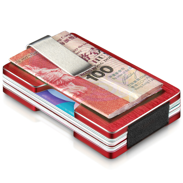NewBring Credit Card Holder Metal With RFID Anti-theft Wallet  Integration Design Female And Male Money Purse Trendy