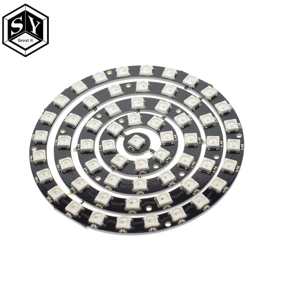 10PCS RGB LED Ring 8 x WS2812 5050 RGB LED with Integrated Drivers TOP