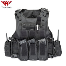 YAKEDA 2019 Military Tactical Vest Camouflage Body Armor Sports Wear Hunting Vest Army Molle police bulletproof Vest Black(China)