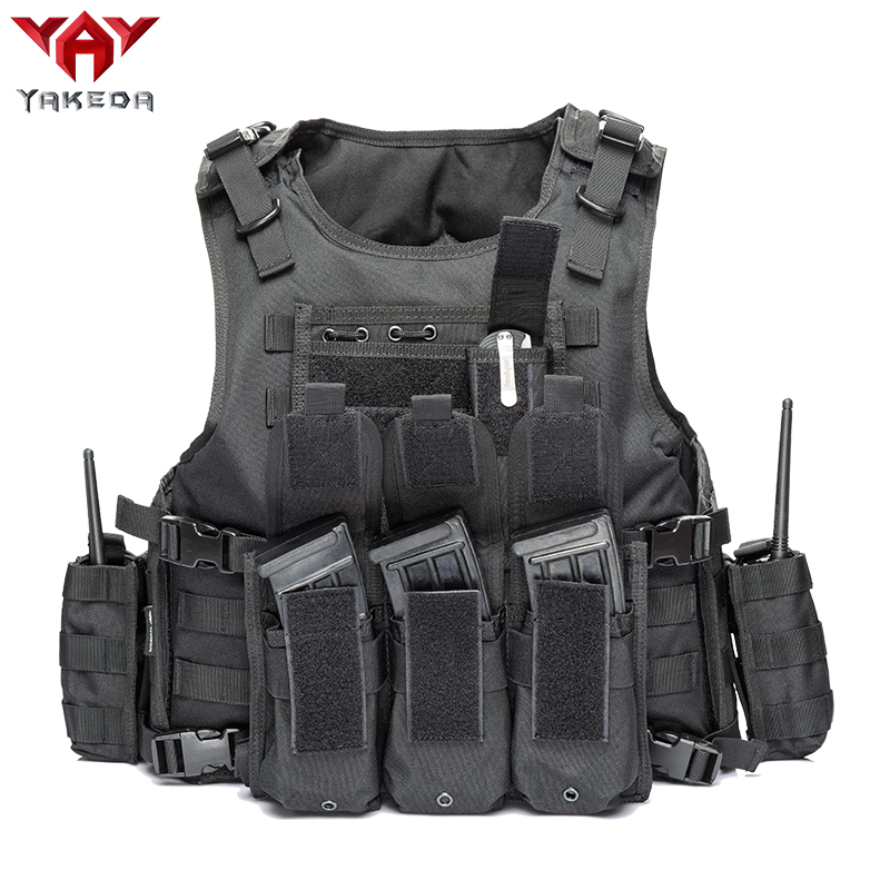 YAKEDA 2019 Military Tactical Vest Camouflage Body Armor Sports Wear Hunting Vest Army Molle Police Bulletproof Vest Black