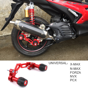 Universal Motorcycle Adjustable Exhaust Pipe Sliders Falling Protector for Yamaha NVX NMAX 155 XMAX 300 PCX 125 Forza Lexi