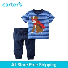 Carter's 2-Piece baby children kids clothing Boy Summer Jersey Top & French Terry Jogger Set 229G663