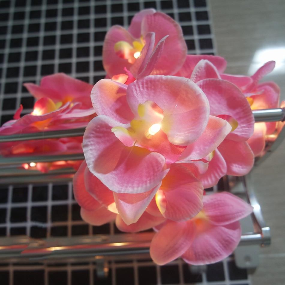 Novoletna orhideja Pravljične svetilke Garland, 4M 20 led modna praznična girlanda, zabava cvetlična dekoracija, dekoracija doma