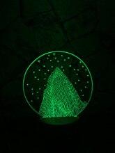 Hot 3D DECOR Snow Mountain LED Night Light lamp illusion art Mood Lamp novelty Visual Atmosphere Bulbing Christmas Birthday Gift