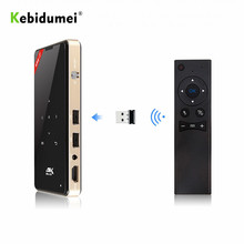 Kebidumei miniproyector LED P8I, Android 7,1, Pico Pocket, HD, portátil, Micro láser, WIFI, Bluetooth, DLP, con batería