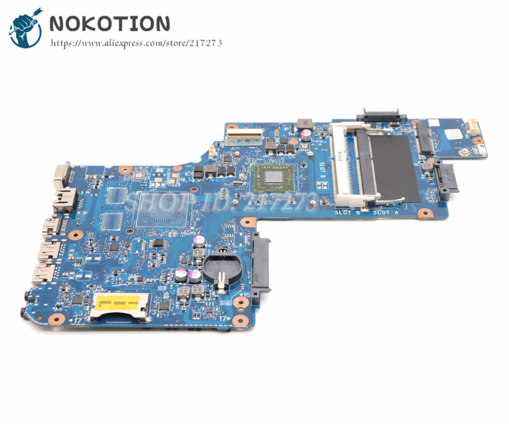 NOKOTION H000053400 Laptop Motherboard For Toshiba Satellite C50 C55 C50D C55D MAIN BOARD DDR3 with Processor onboard for toshiba satellite c55td c50d c55d dlaptop motherboard v000325020 integrated 6050a2565601 mb a02