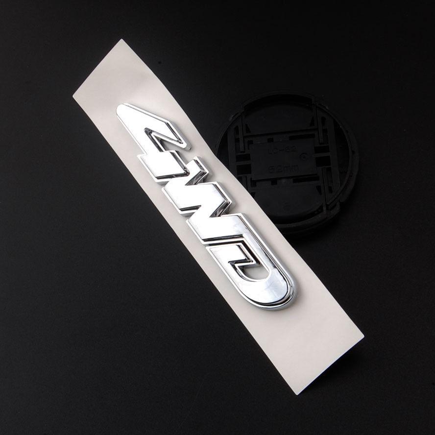 Bbq fuka 1 unid chrome port n trasero 4wd camiones accesorios insignia del coche etiqueta engomada