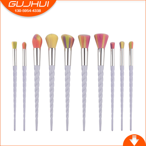 10 Makeup Brush Sets, Beauty Tools, Unicorn Screw, Horn Brush, GUJHUI 12 unicorn makeup brush sets beauty tools make up powder brush sets brush gujhui