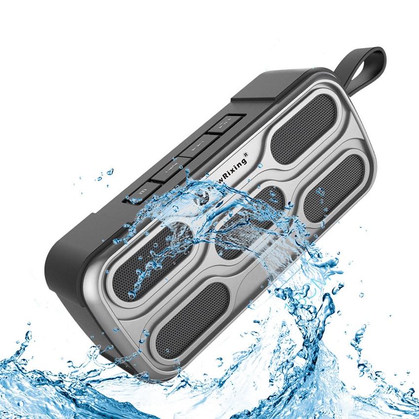 Bluetooth Wireless Outdoor Waterproof Speaker Radio FM Subwoofer Portable Handsfree HIFI Bathroom Music Riding Speakers exrizu ms 136bt portable wireless bluetooth speakers 15w outdoor led light speaker subwoofer super bass music boombox tf radio