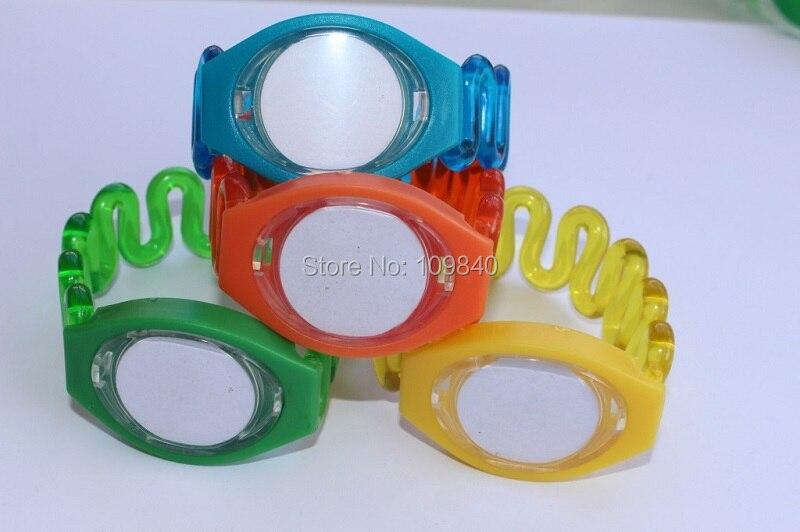 Купить с кэшбэком 50pcs/lot 125KHZ RFID ABS wristbands hand card Watch type tag with TK4100 chip for Sauna Spa Resort hotel swimming pool