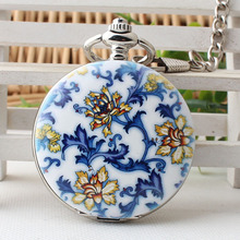 Fashion Steampunk Flower Skeleton Mechanical Pocket Watch With Chain Necklace Fob Clock Gifts For Men And Women