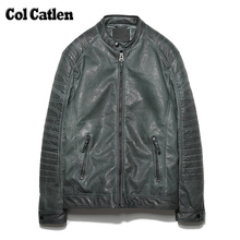 Hot Sale Mens Winter Leather Jacket Popular Mens Thick Warm Outwear Casual Leather Jacket Men Cotton