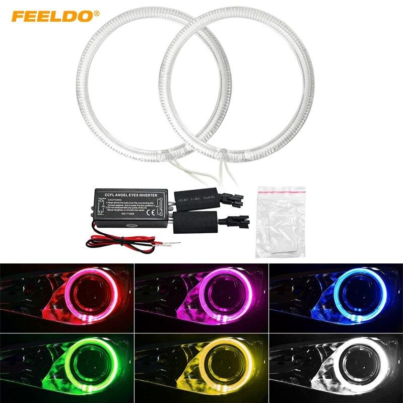 FEELDO 2pcs/Set Car CCFL Angel Eyes Light Halo Rings Kits Light For Volvo C30 2008 Headlight DRL 6-Color