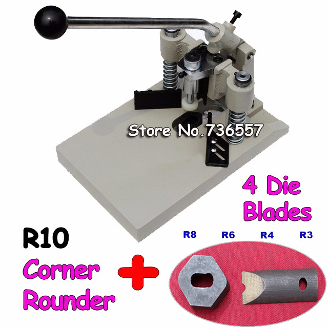 Radius R3, R4, R6, R8, R10 5Blades All Metal ID Business Criedit PVC Paper Card Corner Rounder Cutter automatic electronic driven cut card cutter to cut pvc id business card punching machine with high speed
