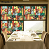 New 200x45cm Static Cling Stained Glass Window Door Film Privacy Film Textured/Stained Effect Floral Security Static Clings -45