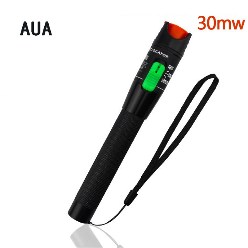 AUA Optical fiber communication tools Preferential price Laser 30MW Metal Visual Fault Locator, Fiber Optic Cable Tester 20Km