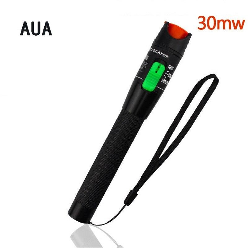 AUA Optische faser kommunikation werkzeuge Vorzugs preis Laser 30 mw Metall Visual Fault Locator, fiber Optic Kabel Tester 20 km