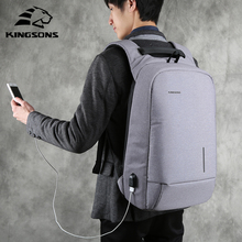 "Kingsons 13""15"" USB Charging Backapcks School Backpack Bag Laptop Computer Bags Men's Women's Travel Bags"