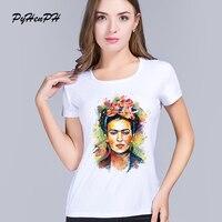 2016 new women frida kahlo print t-shirt women Personalized t shirts female bottoming Casual short sleeve tops women's t-shirts