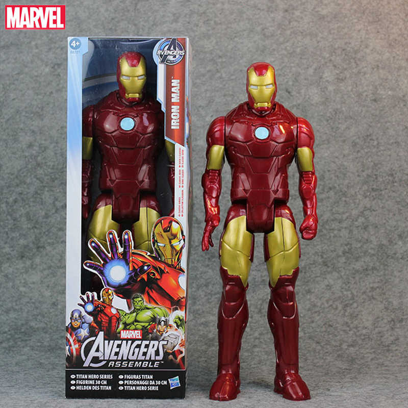 Игрушки 30 см супер фигурка супергероя Тор Капитан Америка Человек-паук ПВХ действия фигурки Аниме игрушечные для детские куклы