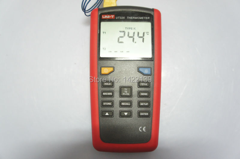 UNI-T UT325 LCD Digital Thermometer Dual Input (Data Logging: 100)  цены