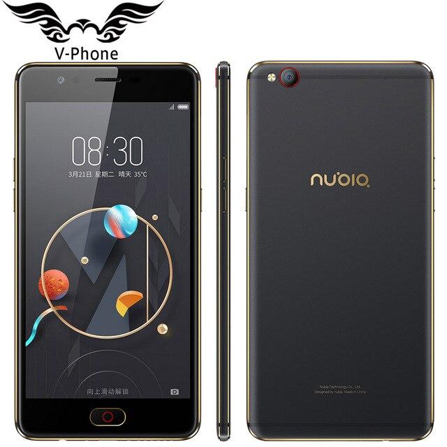 Оригинальный Нубия M2 Lite 4 г LTE мобильный телефон 3/4 ГБ Оперативная память 64 ГБ Встроенная память MT6750 4 ядра 5.5 дюймов 16MP Android N отпечатков пальцев ID смартфон