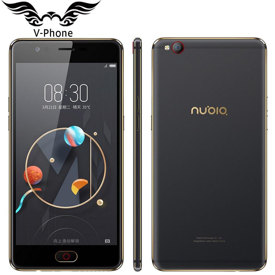 Original Nubia M2 Lite 4G LTE Mobile Phone 3/4GB RAM 64GB ROM MT6750 Quad Core 5.5 inch 16MP Android N Fingerprint ID SmartPhone