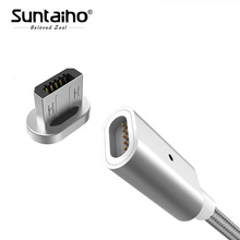 Suntaiho USB Magnetic Charger Micro USB Cable Fast Charging USB Data Cable for Xiaomi Huawei Android Mobile Phone Microusb Cable