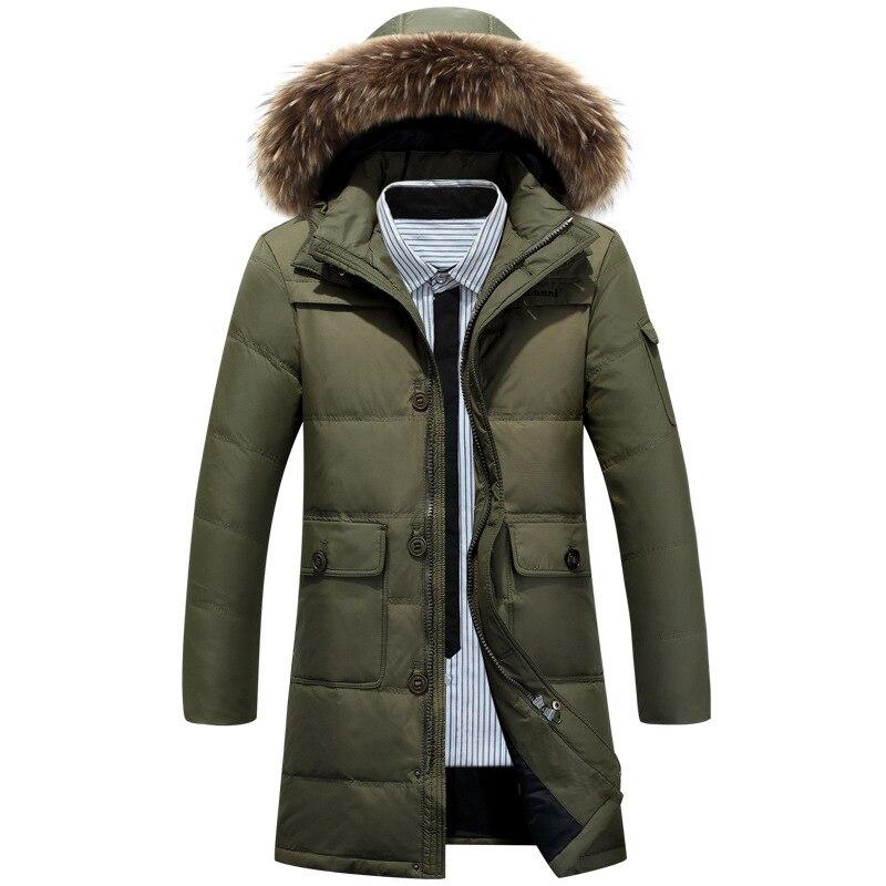 White Duck Down Filled Men Casual Varsity Hoodie Jacket Parkas Autumn Winter Warm Male Fashion Windproof Windbreak Slim Fit Coat
