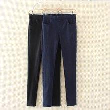 af46fb9f59945 S64 Autumn Winter Plus Size Women Clothing Jeans 4XL Casual Scratched High  Waist Stretch Denim Pencil