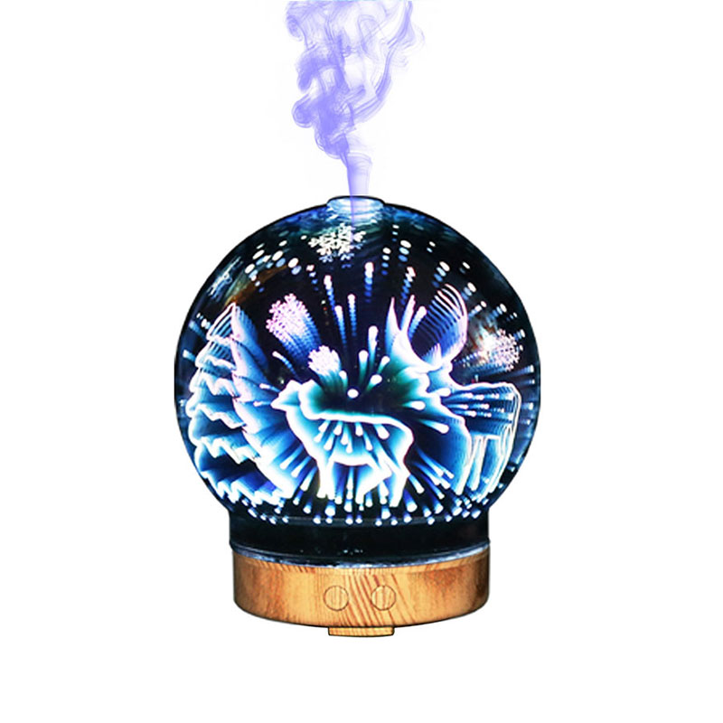 SUNLI HOUSE 3D Humidifier Night Lights Colorful Aromatic 3D Glass lamp Oil Diffuser LED lighting for Indoor Room Luminaria Led sunli house 3d night lights 3d humidifier moon lamp luminaria 3d oil diffuser led lighting for indoor room luminaria de mesa