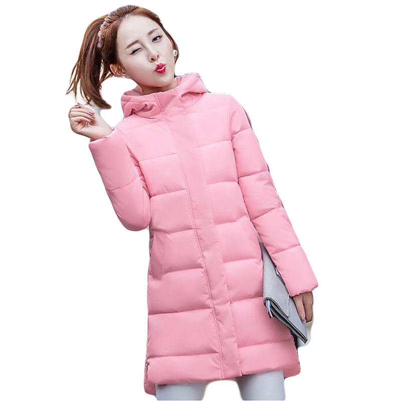 New 2016 Women winter coat wadded jacket With Hat Long Jacket Thickening Hood Abrigos Female Snow