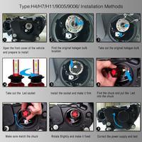 2pcs Car accessories A H7 Q6 12000LM 6000K 120W DOB LED Car Headlight Kit Hi or Lo Light Bulb for Cars Vehicles Auto