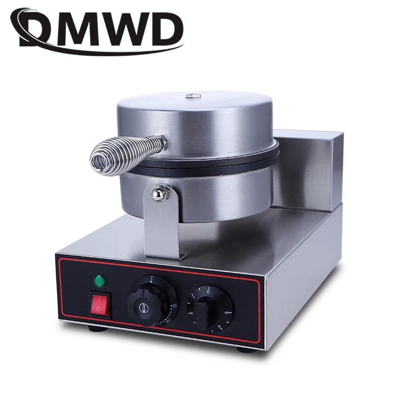 DMWD Commercial Stainless Steel Electric Egg cake muffin oven Waffle Maker Baking Pan Machine Muffin lattice baking machine multifunctional electric egg waffle maker donut cake pop machine mini muffin bubble baking grill oven 3 changeable plates eu us
