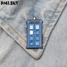 DMLSKY Doctor Who TV Show booth Metal Brooch Clothes Pins Men Lapel Pin Collar Badge Jewelry Bags badge M3198