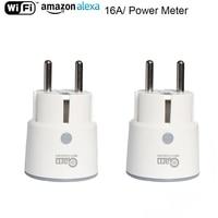 NEO Coolcam Plugue Soquete Wi fi Inteligente 3680W 16A Poder de Monitoramento de Energia Interruptor Do Temporizador de Controle de Voz de Saída DA UE por Alexa google IFTTT Automação predial     -