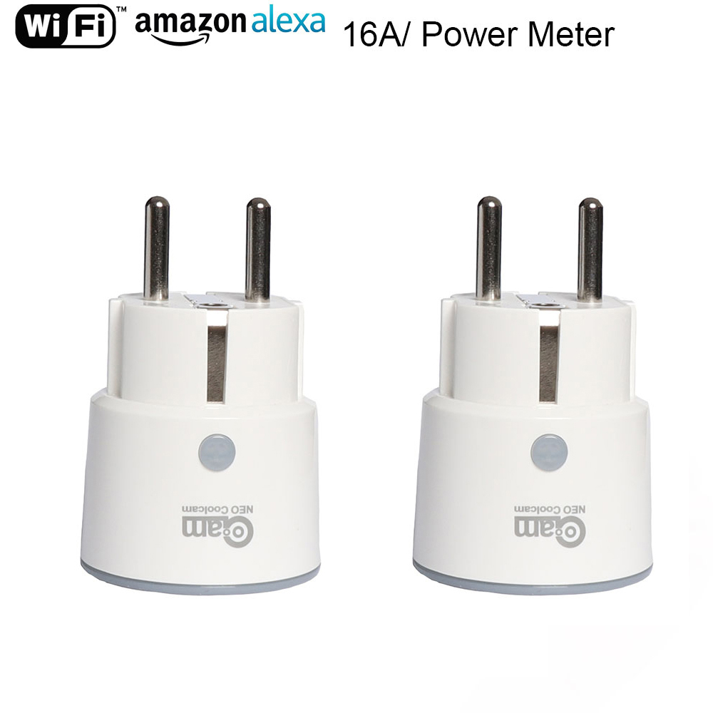 NEO Coolcam Smart Plug WiFi Socket 3680W 16A Power Energy Monitoring Timer Switch EU Outlet Voice Control By Alexa Google IFTTT