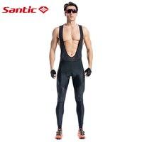 Santic Men Cycling Bib Long Pants Bike Bicycle Padded Pants Road MTB Bib Pants 4 5 Hours Long Distance Asian Size S 3XL M8C04101