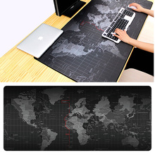 Extra Large Gaming Mouse Pad Old World Map Mousepad Anti-slip Natural Rubber Gaming Mouse Mat with Locking Edge for Gamer цена
