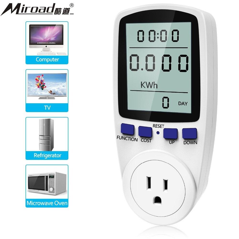Digital Power Meter With Remote Display : Miroad a w plug power meter energy electricity usage