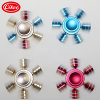 High Quality Rainbow Fidget Spinner Finger Spinner Hand Spinner Brass Spiner Comes With Metal Box Anti