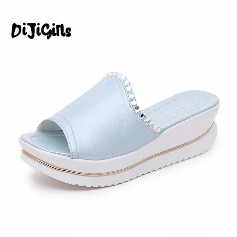 sapato feminino Summer 2017 Girl Sandals Slides Women Slippers Sandals Shoes Wedges Platform Shoes sandalias mujer sapato